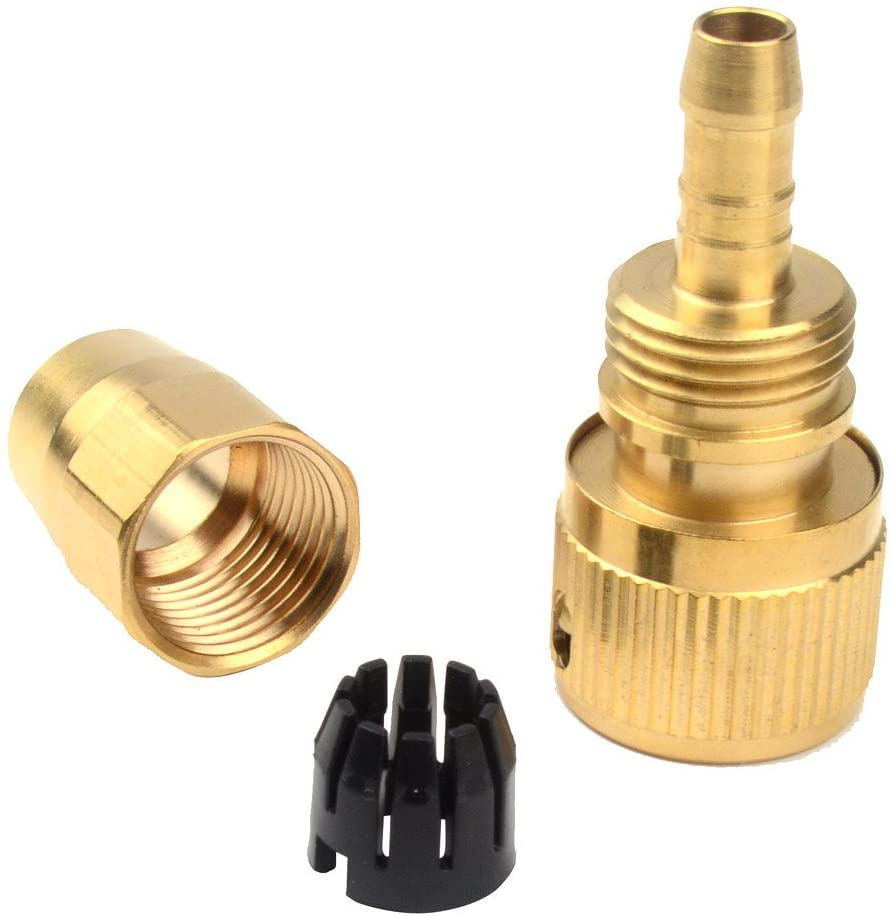 Set of Brass Garden Xhose Expanding Hose Joint Male Pipe Adaptor Repair With Quick Connector