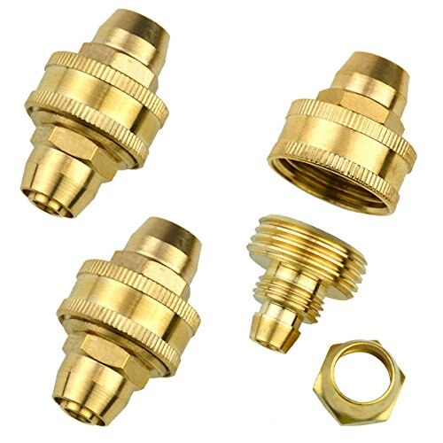 "3Sets Brass 3/8"" Garden Hose Mender End Repair Male Female Connectors"