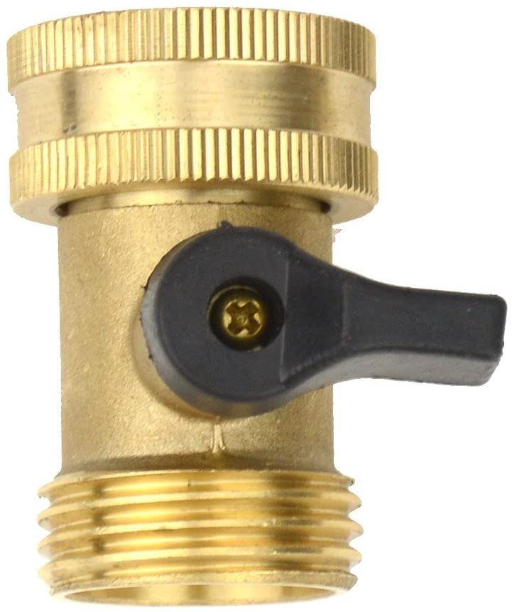Brass Fittings Male Connector With Individual On/Off Valves Garden Tap Hose Adapter