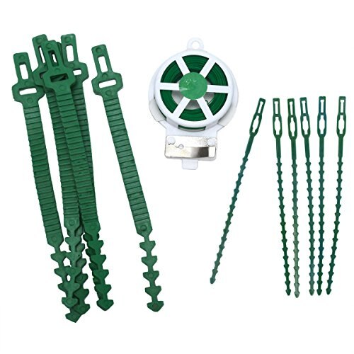 Sets of 3 Green Garden Plastic Cable Ties Gardening Clips Climbers Twists Strips