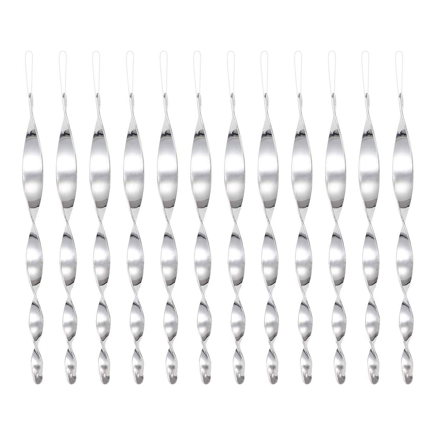 12Pcs Spiral Shape Hanging Reflective Bird Scare Repellent Rods for Garden Yard Spike Pest Control Bird Repellent